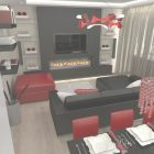 Red And Black Living Room Decorating Ideas