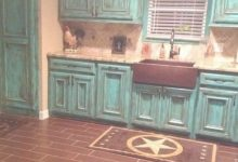 Distressed Turquoise Cabinet