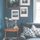 Blue Painted Living Room Ideas