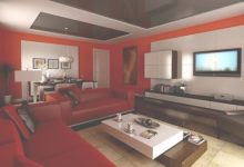 Ideas For Red Living Rooms