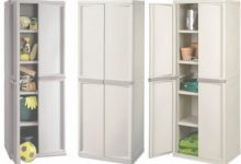 Sterilite 4 Shelf Storage Cabinet