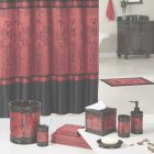 Red And Black Bathroom Sets