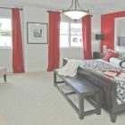 Black White Gray And Red Bedroom