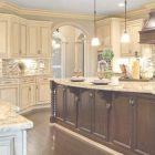 Distressed Cream Kitchen Cabinets