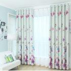 Flower Curtains Bedroom