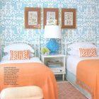 Turquoise And Orange Bedroom