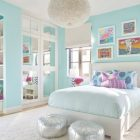 Girls Blue Bedroom