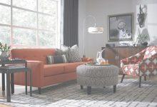 Orange Couch Living Room