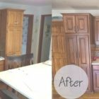 Spray Stain Cabinets