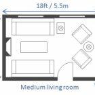 Standard Living Room Size