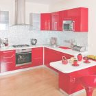 Red And White Cabinets
