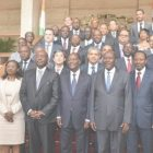 A Group Photo Of The Members Of Cabinet