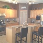 Brown Kitchen Walls With Oak Cabinets