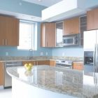 Blue Kitchen Walls With Brown Cabinets